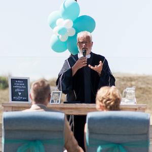 bruiloft trouwen strand